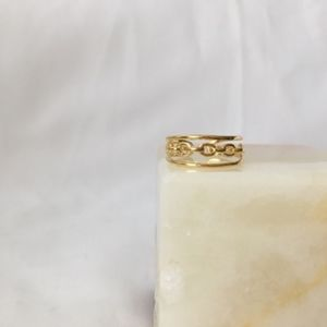 ALL LINKED UP Ring - GOLD BOUTIQUE